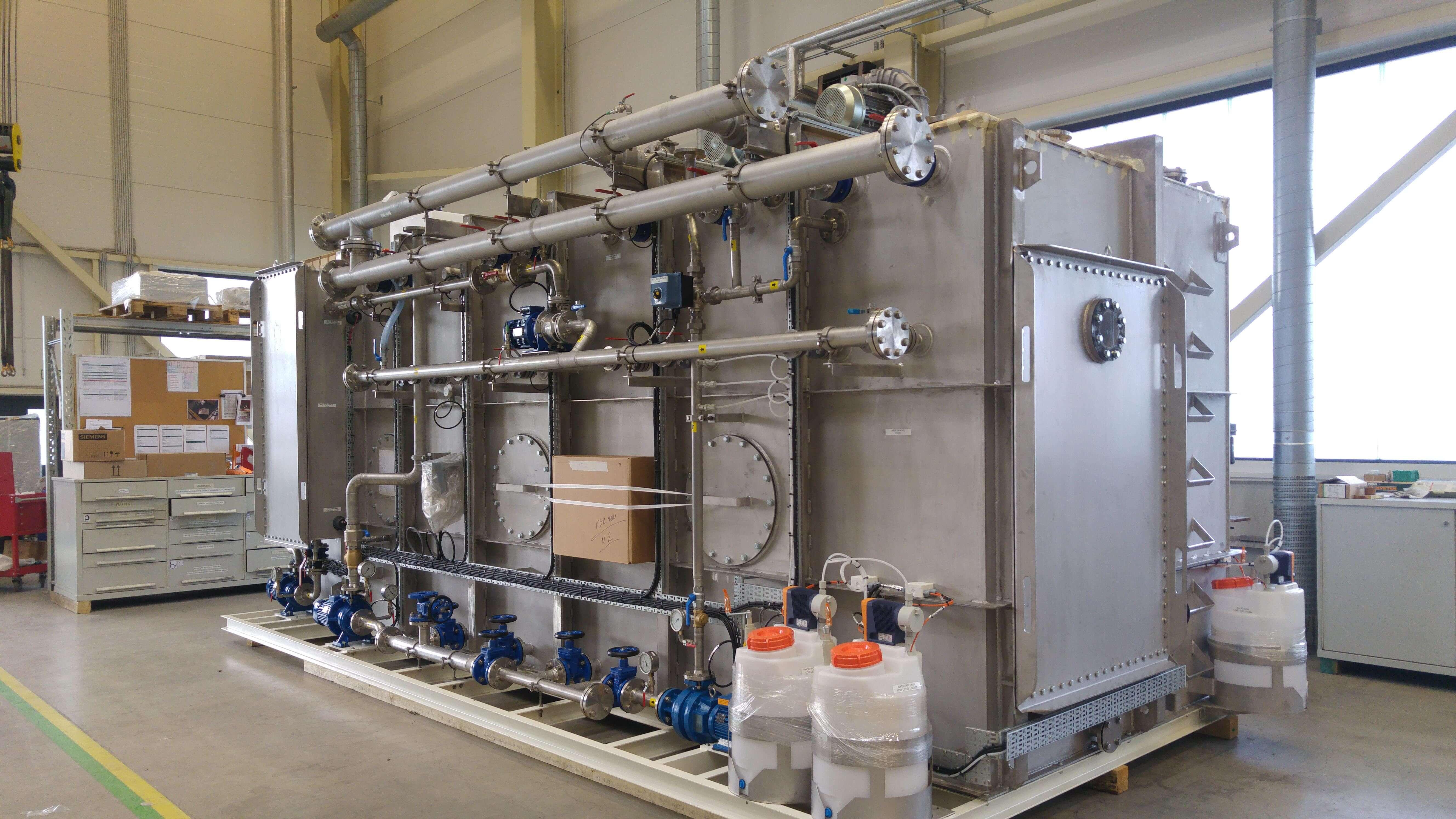 Sewage treatment system installation